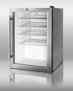 "Summit Refrigeration SCR312LCSS 17"" Countertop Refrigeration w/ Front Access - Swing Door, Stainless, 115v"