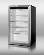 "Summit Refrigeration SCR485L 19"" Countertop Refrigerator w/ Front Access - Swing Door, Black, 115v"
