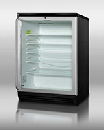"Summit Refrigeration SCR600BLSH 24"" Countertop Refrigerator w/ Front Access - Swing Door, Black, 115v"