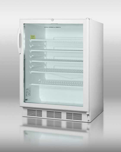 "Summit Refrigeration SCR600LADA 24"" Countertop Refrigeration w/ Front Access - Swing Door, White, 115v"