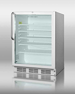 """Summit Refrigeration SCR600LCSS 24"""" Countertop Refrigeration w/ Front Access - Swing Door, Stainless, 115v"""