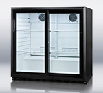 "Summit Refrigeration SCR700 35.5"" Countertop Refrigeration w/ Front Access - Sliding Door, Black, 115v"