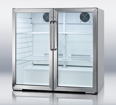 Summit Refrigeration SCR7012DCSS Beverage Merchandiser w/ Single Section & Auto Defrost, Stainless, 115v, 6.5-cu ft