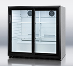 "Summit Refrigeration SCR700CSS 36"" Countertop Refrigerator w/ Front Access - Sliding Door, Stainless, 115v"