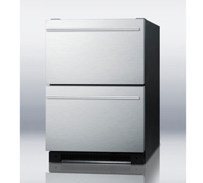 Summit Refrigeration SP5DS2DSSHH 5.4-cu ft Undercounter Refrigerator w/ (1) Section & (2) Drawers, 115v
