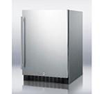 Summit Refrigeration SPR626OSCSS Outdoor Beverage Refrigerator w/ Auto Defrost & Glass Shelves, 115v, 4.9-cu ft