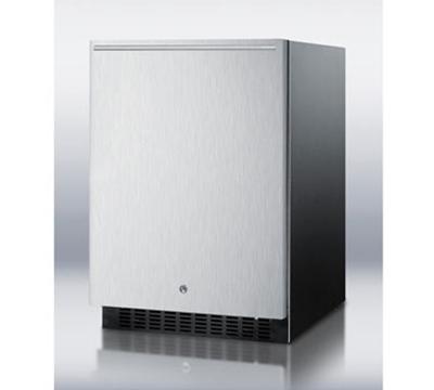 Summit Refrigeration SPR626OSSSHH Outdoor Beverage Refrigerator w/ Auto Defrost & Horizontal Handle, Black, 4.9-cu ft