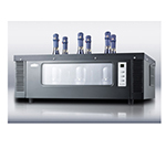 Summit Refrigeration STC1W6 Thermoelectric Wine Chiller w/ 8-Bottle Capacity & Digital Controls, Black, 115v