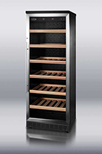 "Summit SWC1545 23.63"" One Section Wine Cooler w/ (2) Zones - 80-Bottle Capacity, 115v"