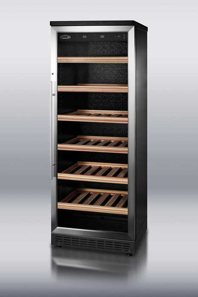 "Summit Refrigeration SWC1545 23.63"" One Section Wine Cooler w/ (2) Zones - 80-Bottle Capacity, 115v"