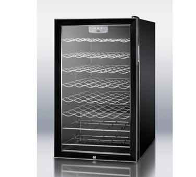 "Summit Refrigeration SWC525L7 19.25"" One Section Wine Cooler w/ (1) Zone - 75-Bottle Capacity, 115v"