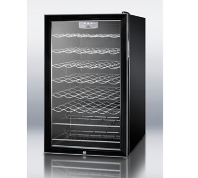 "Summit Refrigeration SWC525L 19.25"" One Section Wine Cooler w/ (1) Zone - 42-Bottle Capacity, 115v"