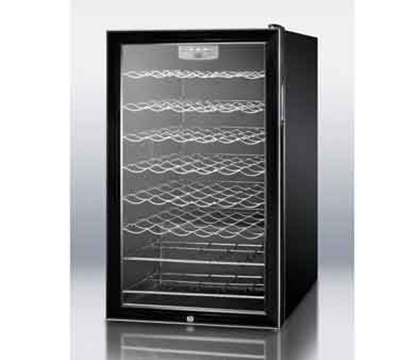 "Summit Refrigeration SWC525LBI7 19.25"" One Section Wine Cooler w/ (1) Zone - 75-Bottle Capacity, 115v"
