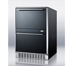 "Summit Refrigeration SWCD40 23.63"" Two Section Wine Cooler w/ (2) Zone - 45-Bottle Capacity, 115v"