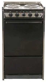 Summit Refrigeration TEM115R 20-in Range w/ Removable, Under Oven Storage, Handle & Lift Up Top, Black