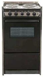 "Summit TEM115RW 20"" Range w/ Removable Top, Handle, Window & Storage, 220v, Black"