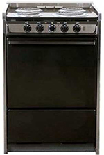 Summit TEM619R 24-in Range w/ Removable Top, Handle & Storage Under Oven, Black