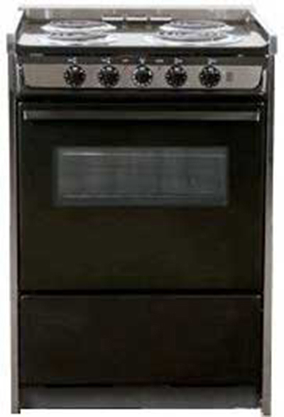 Summit Refrigeration TEM619RW 24-in Range w/ Removable Top, Door Window & Storage Under Oven, Black