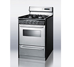 Summit TNM63027BFKWY 24-in Range w/ Clock Timer, Electric Ignition, Handles & Sealed Burners, B