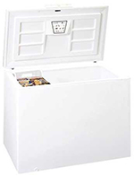Summit CFC162QW Chest Freezer w/ 1-Section, Storage Basket, White, 15.2-cu ft
