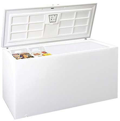 Summit Refrigeration WCH25 Chest Freezer w/ 1-Section, Storage Basket, White, 25.2-cu ft