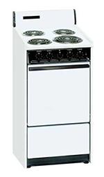 Summit Refrigeration WEM1171Q 20-in Range w/ 5-Indicator Lights, 3-Pring Line Cord & Storage Under Oven, 220/1V, White