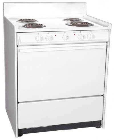 Summit Refrigeration WEM211 30-in Range w/ Removable Top, 1-Racks & Broiler In Oven, White