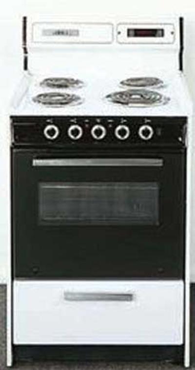 Summit Refrigeration WEM230DK 30-in Range w/ Removable Top, Digital Clock, Oven Storage & See Thru Door, White