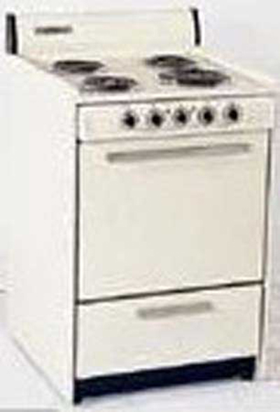 Summit Refrigeration WEM611 24-in Range w/ Removable Top, 1-Racks & Broiler In Oven, White