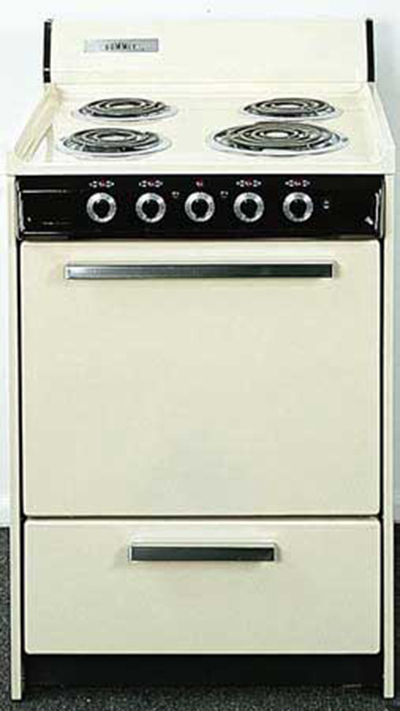 Summit Refrigeration WEM6171Q 24-in Range w/ Removable Top, 5-Indicator Lights & Oven Storage, White