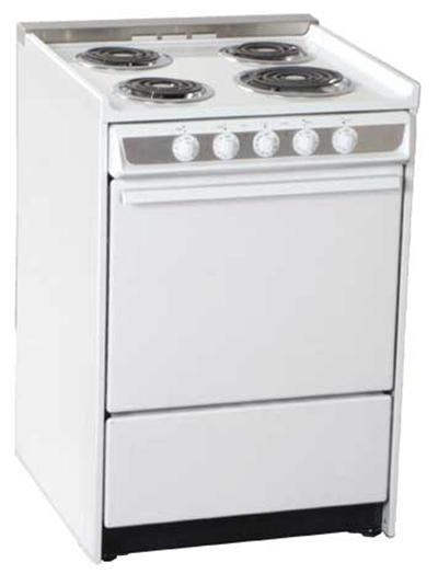 Summit Refrigeration WEM619RW 24-in Range w/ Removable Top, Handle, Window & Oven Storage, White