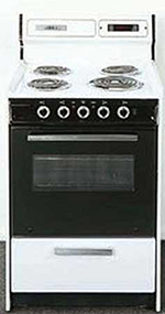 Summit Refrigeration WEM630DK 24-in Range w/ Removable Top, Digital Clock Timer & Oven Storage, White