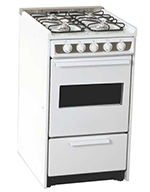 Summit Refrigeration WNM114RW 20-in Range w/ Electronic Ignition, Sealed Burners, White, 220/1V