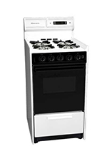 Summit WNM1307DFK 20-in Range w/ Electronic Ignition & Sealed Burners, 220/1V, White/