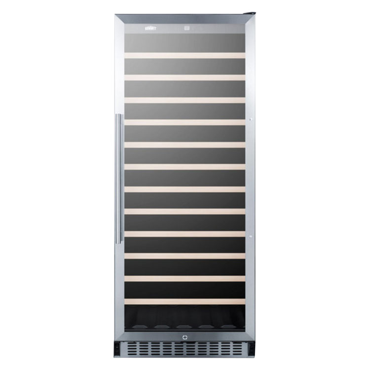 """Summit SWC1102 24"""" One Section Wine Cooler w/ (1) Zone, 102-Bottle Capacity, 115v"""