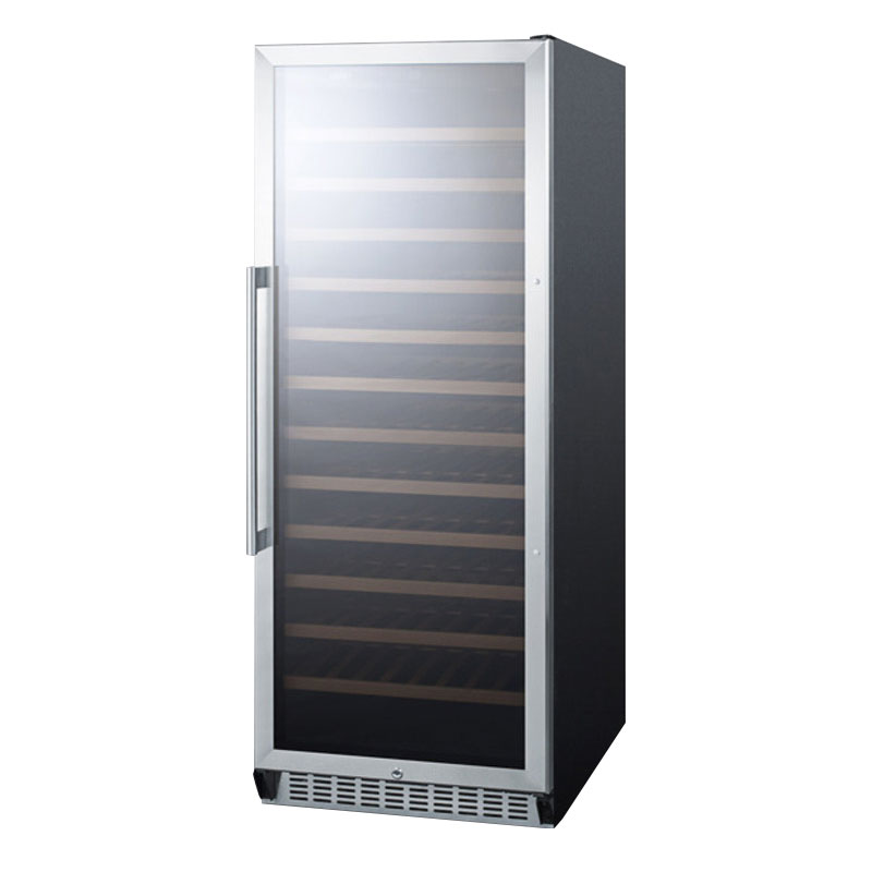 "Summit Refrigeration SWC1102 24"" One Section Wine Cooler w/ (1) Zone - 102-Bottle Capacity, 115v"