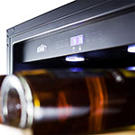 """Summit SWC1875B 24"""" Two Section Wine Cooler w/ (2) Zones - 118-Bottle Capacity, 115v"""