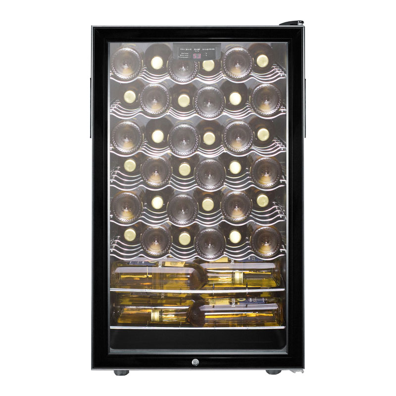 """Summit SWC525L7 20"""" One Section Wine Cooler w/ (1) Zone, 40-Bottle Capacity, 115v"""