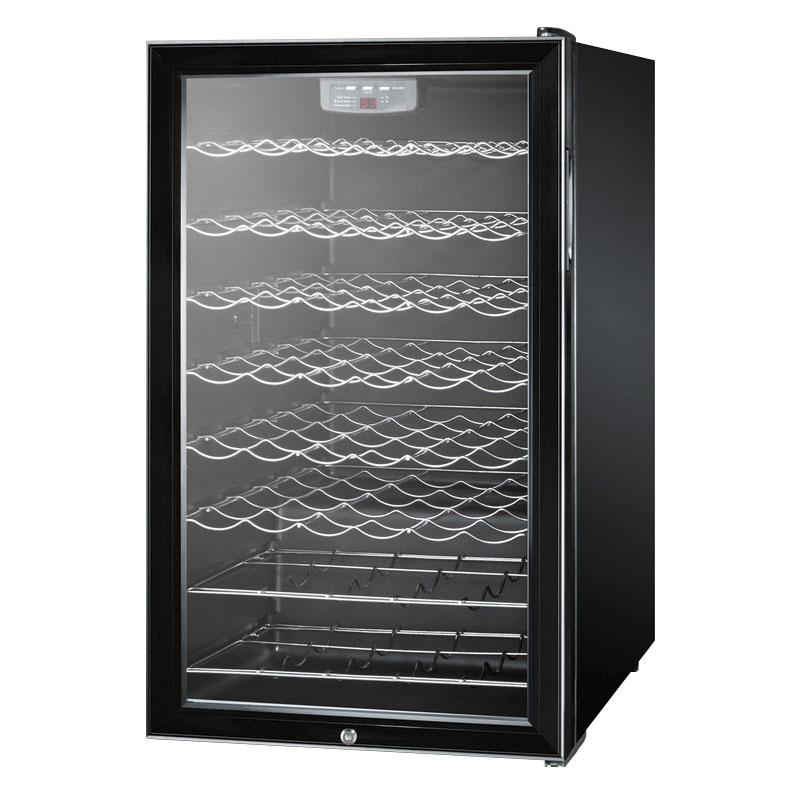"Summit SWC525L7 20"" One Section Wine Cooler w/ (1) Zone, 40-Bottle Capacity, 115v"