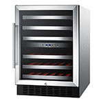 "Summit SWC530LBISTADA 24"" One Section Wine Cooler w/ (1) Zone - 36-Bottle Capacity, 115v"