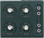 Summit Refrigeration TTL033 24-in Cooktop w/ Electronic Ignition, Universal Valves & 4-Burners, Black