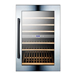 "Summit VC60D 23"" One Section Wine Cooler w/ (2) Zone - 59-Bottle Capacity, 115v"