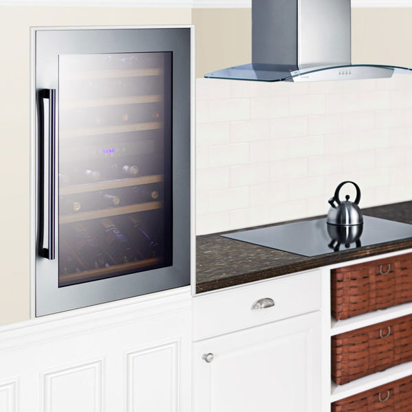 """Summit VC60D 23"""" One Section Wine Cooler w/ (2) Zone - 59-Bottle Capacity, 115v"""