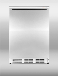 Summit VT65MLSSHH 24-in Freestanding Freezer w/ Manual Defrost & 3-Drawer, White/Stainless,