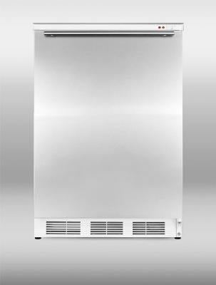 Summit VT65MLSSHH 24-in Freestanding Freezer w/ Manual Defrost & 3-Drawer, White/Stainless, 3.5-cu ft