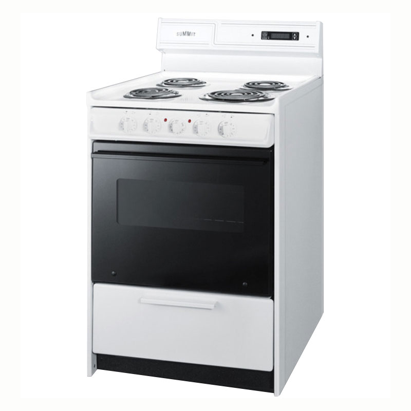 "Summit WEM630DK 24"" Range w/ Removable Top, White"