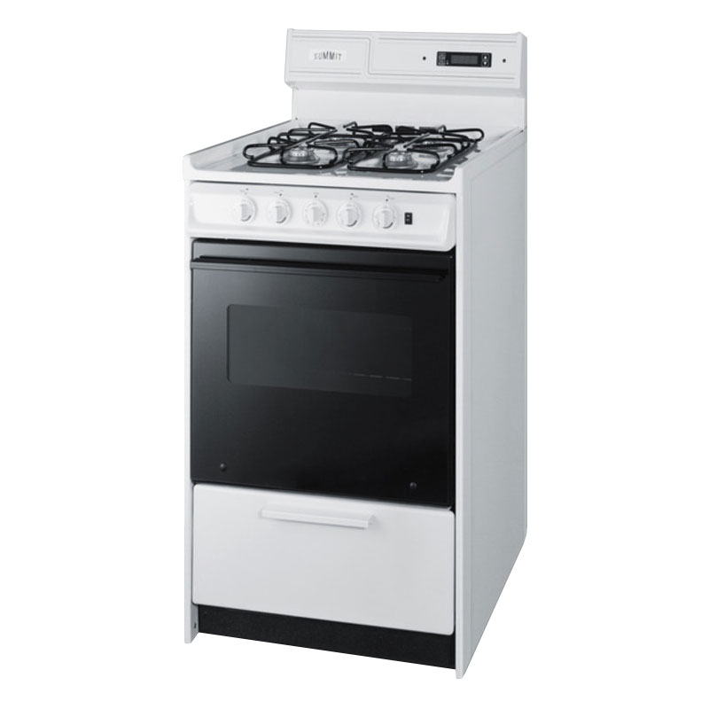 Summit Refrigeration WNM1307DFK NG 20-in Deluxe Range w/ Sealed Burners & Recessed Oven Door, Black, 2.5-cu ft