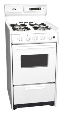 Summit Refrigeration WNM1307KW NG 20-in Deluxe Range w/ Electronic Ignition, Clock & Timer, 44x20x24-in, 2.5-cu ft, NG