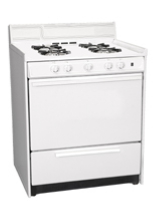 Summit Refrigeration WNM2107 NG 30-in Range w/ Electronic Ignition, Lower Broiler & Door, White, 3.69-cu ft, NG