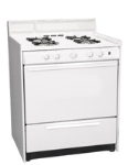 Summit Refrigeration WNM2107F NG 30-in Range w/ Sealed Burners & Electronic Ignition, White, 3.69-cu ft, NG